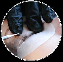 Wimpernlifting in Saulheim und Ginsheim bei Mainz, Wimpernlifting Silikon Patch, Wimpern kleben und fixieren, Behandlungsablauf eines Wimpernliftings