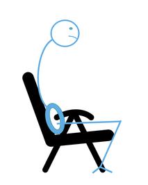 Der typische Bürostuhl ist schlecht für den Rücken
