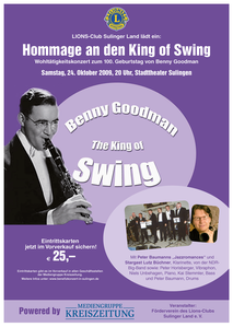 Plakat Lions Club Sulinger Land Benefiz Gypsi Jazz