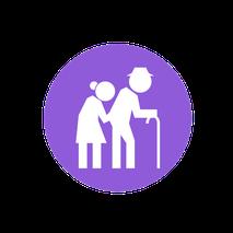 icone homme et femme âgés