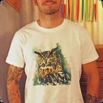 collection tee shirt cton homme moderne original tendance différant animaux design fait main peinture