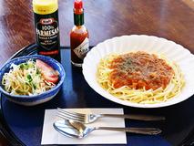 わくわく食堂やわたはまのミートソーススパゲティメニュー