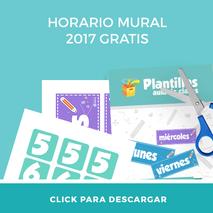 Descarga gratis el horario mural