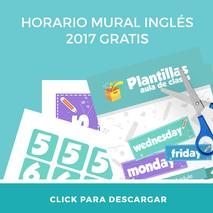 Descarga gratis el horario mural para profesores de inglés