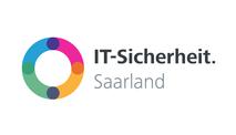 Das Logo IT-Sicherheit Saarland wird dargestellt