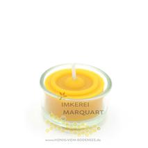 Teelicht Bienenwachs im Glas