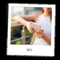 Handy mit Apps: Social Media Service durch VAJUS Virtuelle Assistenz