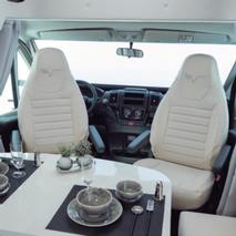 Drehbare Fahrerhaussitze mit Doppelarmlehnen