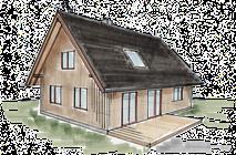 Hexenhaus aus Holz Treibholz 88
