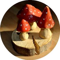 Mini Pilze töpfern