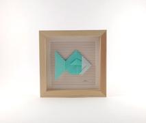 Cadre origami Poisson - Format 14 x 14cm - 25€