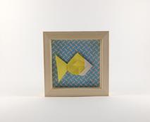 Cadre origami Poisson - Format 11 x 11cm - 20€