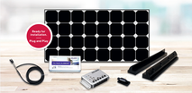 The DCsolar Power Set complete set, with charge controller, retaining spoiler, adhesive set, cable set, roof lead-through and installation instructions. The perfect complete set for campers, motorhomes, campers, caravans, vans for retrofitting. 100% teste