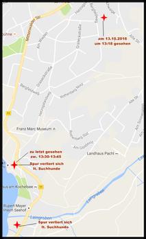 Kochelsee-Karte letzte Spur von Evi