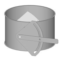 Absperrklappe - Baukasten Rohrbauteile