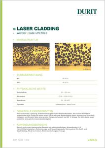 LASER CLADDING LPD 502.0 WCNiCr