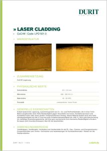 LASER CLADDING LPD 501.0 CoCrW