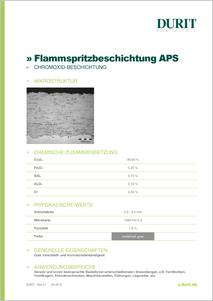 APS CHROMOXID BESCHICHTUNG