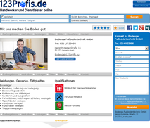 www.123profis.de Profil-Ansicht
