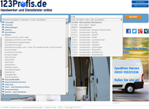 www.123profis.de Suche