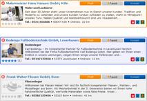 www.123profis.de Suchergebnisse
