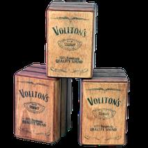 "Vollton-Shaker, Mini-Shaker im ""Used"" Design, Shaker in Cajon-Optik, Shaker optisch wie Mini-Cajon"