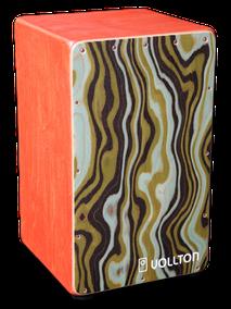 Vollton-Cajon, Front: Designfurnier Pavone Korpus:  Birke, geölt im Farbton Mahagoni