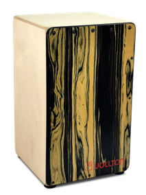 VOLLTON CAJON Front: Designfurnier Ebony Black & White Korpus:  Birke, hell geölt  Größe:  Maxi, 48 x 29 x 29 cm