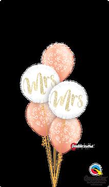 Ballon Luftballon Heliumballon Mr Mrs Ballonbouquet Bouquet Ballonstrauß Strauß Just Married Hochzeit Polterabend Deko Dekoration Geschenk Mitbringsel Überraschung Brautpaar Herzen Tauben XXL