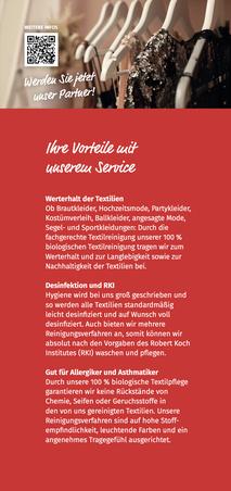 Versandreinigung-mueden.de, Kleiderverleih-Reinigung, Flyer Seite #4