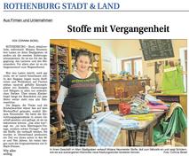 Bericht Fränkischer Anzeiger 31.03.2020 - Mirjana Rothenburg od der Tauber