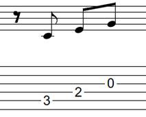 ギターアドリブ入門講座(初心者) 2拍パターン3-1