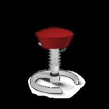 swopper Bürostuhl - Classic in Rot mit Titan Gestell