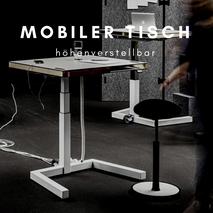 Mobiler höhenverstellbarer Schreibtisch