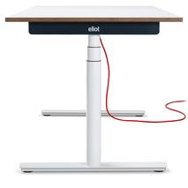 Eliot Schreibtisch mit weißem Gestell und Tischplatte weiß