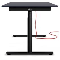 Eliot Schreibtisch mit schwarzem Gestell und Tischplatte Anthrazit