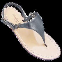 infradito modello triangolo Sofia colore grigio scuro i sandali di Mariarosaria Ferrara Ischia.