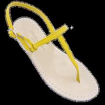 sandali Basic dallo stile minimal, modello Ermes colore giallo by Mariarosaria Ferrara Ischia.