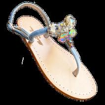 sandali gioiello in velluto e farfalla preziosa swarovski