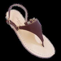 Sandali basic classici modello Sofia colore cuoio marrone.