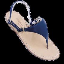 Sandali classici a forma di triangolo modello Sofia  colore blu scuro .