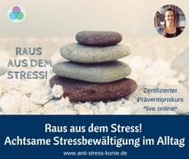 Präventionskurs für Betriebliche Gesundheit: Raus aus dem Stress - Achtsame Stressbewältigung - Anti-Stress-Trainerin Christina Gieseler - Mindful Balance Gesundheitsprävention & Stressmanagement
