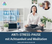 Anti-Stress-Pause mit Achtsamkeit und Meditation - Aktive Pause für die Betriebliche Gesundheit- Anti-Stress-Trainerin Christina Gieseler - Mindful Balance Gesundheitsprävention & Stressmanagement