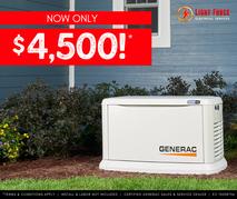 generac generator $9,200 spooktacular deal