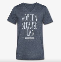 Green because i can Nachhaltige Bio Mode T-Shirt Grey