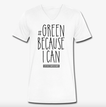 Green because i can Nachhaltige Bio Mode T-Shirt White