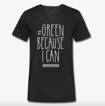 Green because i can Nachhaltige Bio Mode T-Shirt Black