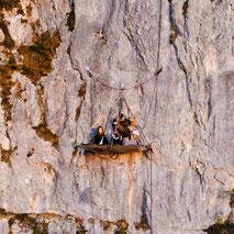 Übernachtung am Felsen, Portalodge, Klettern, Abseilen, Adrenalinkick