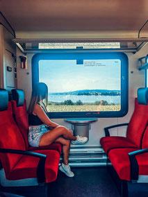 Voralpenexpress, SOB, Aussicht aus dem Zug, Zugfahren