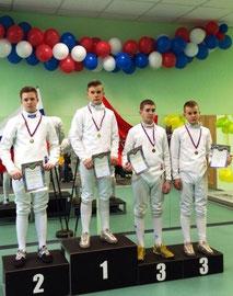 1 место Алексей, 3 - Андрей (справа) Виноградовы